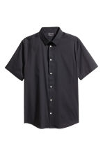 Short-sleeved stretch shirt - Black - Men | H&M CN 2