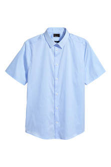 Short-sleeved stretch shirt