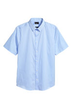 Short-sleeved stretch shirt - Light blue - Men | H&M CN 2
