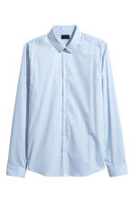 Stretch shirt Slim fit - Light blue - Men | H&M CN 2