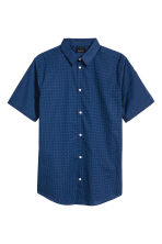 Shirt in premium cotton - Navy blue/Spotted - Men | H&M 2