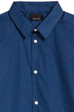 Shirt in premium cotton - Navy blue/Spotted - Men | H&M 3