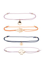 4-pack elastic bracelets - Gold - Ladies | H&M 2