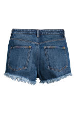 Denim shorts High waist - Dark denim blue - Ladies | H&M CA 2