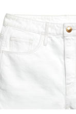 Denim shorts High waist - White denim -  | H&M 2