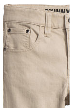 Twill trousers Skinny fit - Light beige - Kids | H&M CN 3