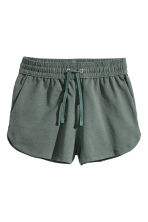 Sweatshirt shorts - Dark green - Ladies | H&M CN 2