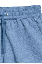 Short van joggingstof - Blauw gemêleerd - DAMES | H&M BE 3