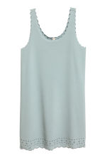 Dress with scalloped edges - Dusky turquoise - Ladies | H&M CN 2
