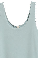 Dress with scalloped edges - Dusky turquoise - Ladies | H&M CN 3