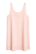 Dress with scalloped edges - Powder pink - Ladies | H&M CN 2