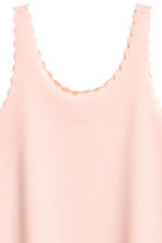 Dress with scalloped edges - Powder pink - Ladies | H&M 3