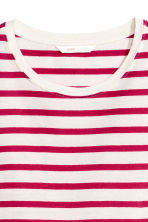 Cotton T-shirt - Cerise/Striped - Ladies | H&M CN 3