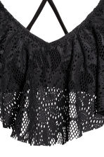 Frilled bikini top - Black/Lace - Ladies | H&M CN 3