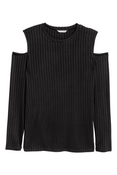 H&M+ Top a spalle scoperte - Nero - DONNA | H&M IT 1