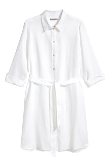 H&M+ Linen shirt dress