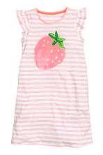 Nightdress with a print motif - Light pink/Strawberry - Kids | H&M 1