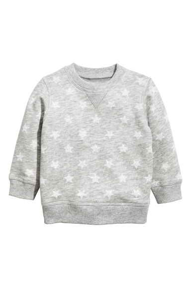 Sweatshirt - Grey/Stars -  | H&M 1