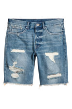 Denim shorts - Light denim blue - Men | H&M CA 2