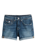 Denim shorts - Dark denim blue - Ladies | H&M GB 2