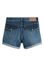 Denim shorts - Dark denim blue -  | H&M CN 3