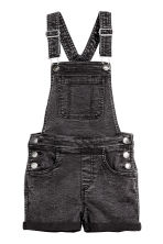 Dungaree shorts - Black washed out - Kids | H&M CN 2