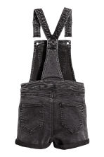 Dungaree shorts - Black washed out - Kids | H&M CN 3