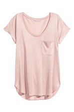 Jersey top - Powder pink - Ladies | H&M CN 2