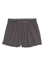 Wide shorts - Black/Striped - Ladies | H&M CN 2