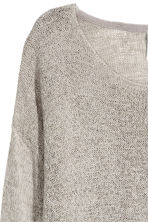 Loose-knit jumper - Grey - Ladies | H&M CN 3