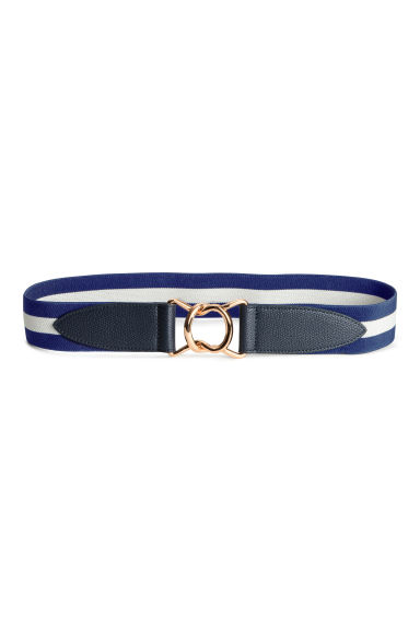 Waist belt with a metal buckle - Dark blue/White - Ladies | H&M 1