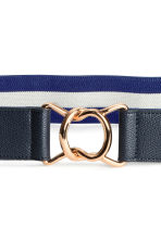 Waist belt with a metal buckle - Dark blue/White - Ladies | H&M 3