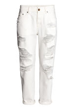 Boyfriend Low Ripped Jeans - White denim - Ladies | H&M 2