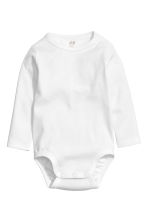 2-pack long-sleeved bodysuits - White -  | H&M CN 2