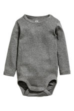 2-pack long-sleeved bodysuits - Grey/Striped - Kids | H&M 2