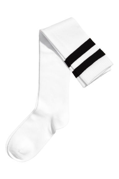 Over-the-knee socks - White - Ladies | H&M 1