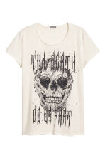 Printed T-shirt - Natural white - Men | H&M 2