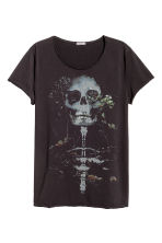Printed T-shirt - Black - Men | H&M 2