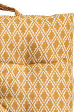 Patterned seat cushion - Natural white/Mustard yellow - Home All | H&M CN 2