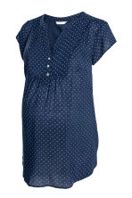 MAMA Short-sleeved blouse - Dark blue/Spotted - Ladies | H&M 2