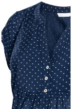 MAMA Short-sleeved blouse - Dark blue/Spotted - Ladies | H&M 3