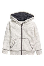 Hooded jacket - Natural white marl - Kids | H&M CN 2