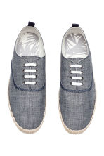 Espadrilles with lacing - Dark blue marl - Men | H&M CN 2
