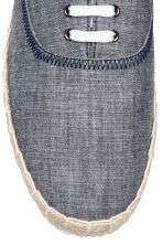 Espadrilles with lacing - Dark blue marl - Men | H&M CN 3