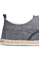 Espadrilles with lacing - Dark blue marl - Men | H&M CN 4