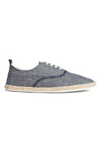 Espadrilles with lacing - Dark blue marl - Men | H&M CN 1