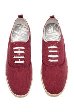 Espadrilles with lacing - Dark red - Men | H&M CN 2
