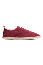 Espadrilles with lacing - Dark red - Men | H&M CN 1