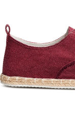 Espadrilles with lacing - Dark red - Men | H&M CN 4