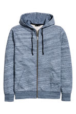 Hooded jacket - Blue marl -  | H&M 2